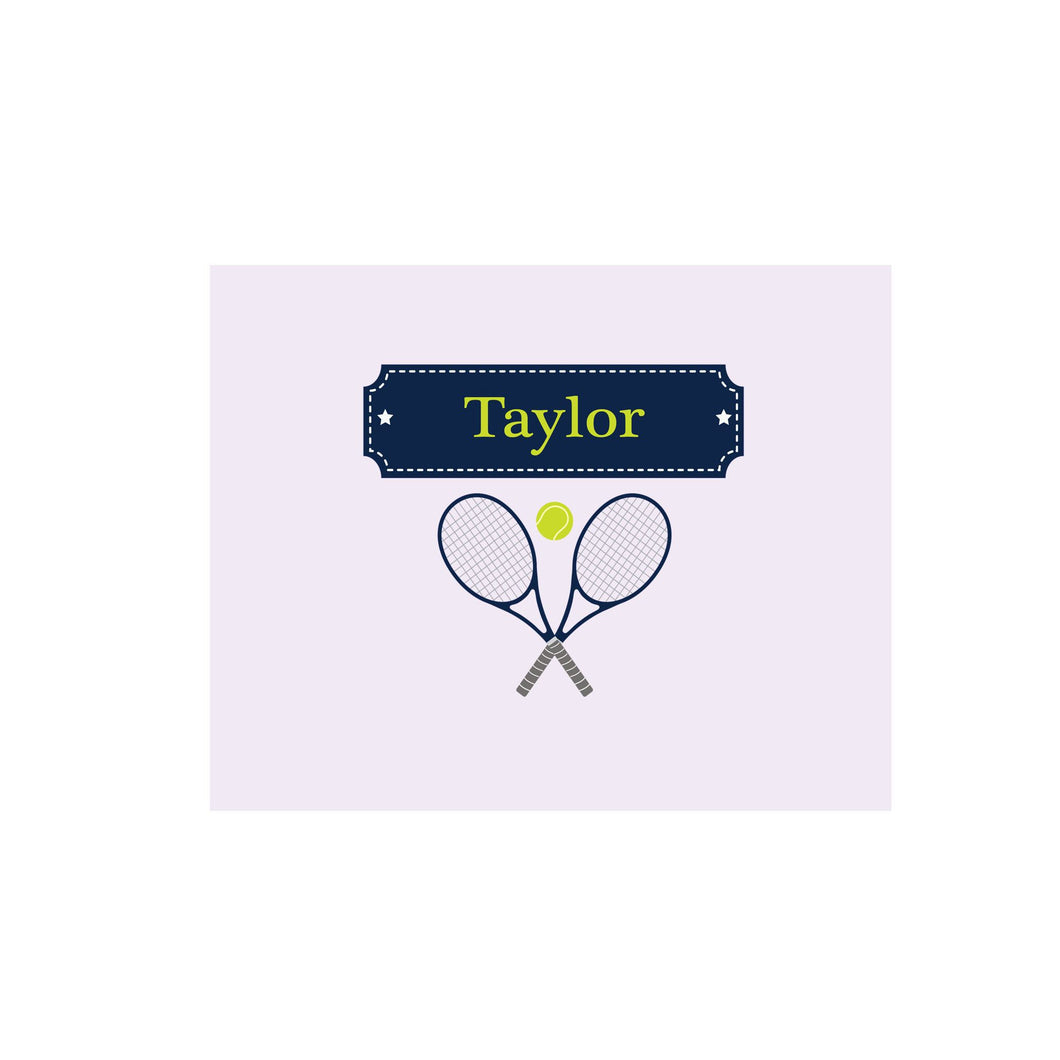 Personalized Wall Canvas with Tennis design