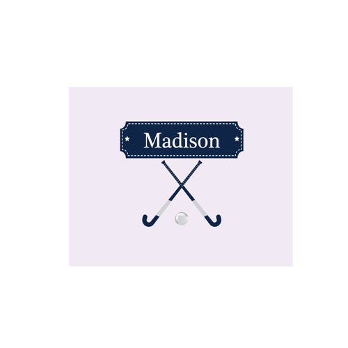 Personalized Wall Canvas with Field Hockey design