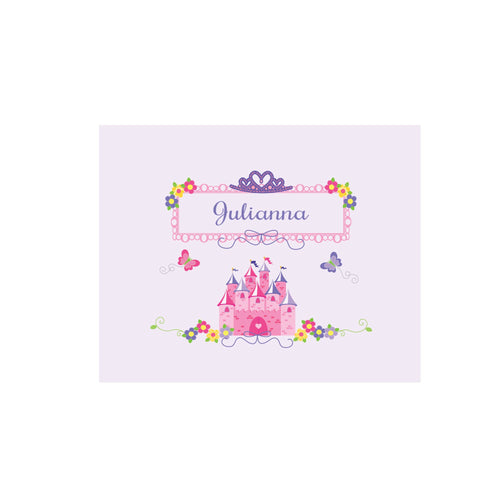 Personalized Wall Canvas with Princess Castle design