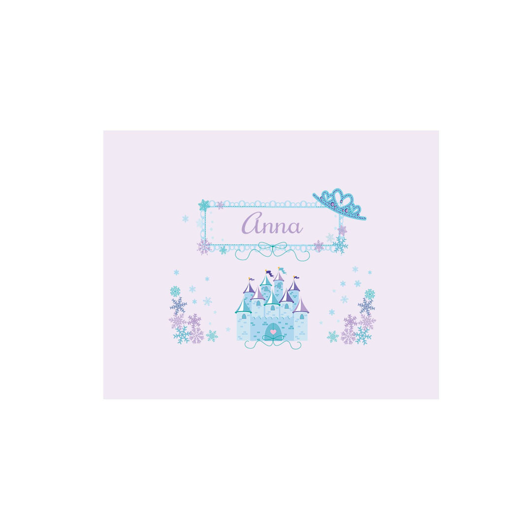Personalized Wall Canvas with Ice Princess design