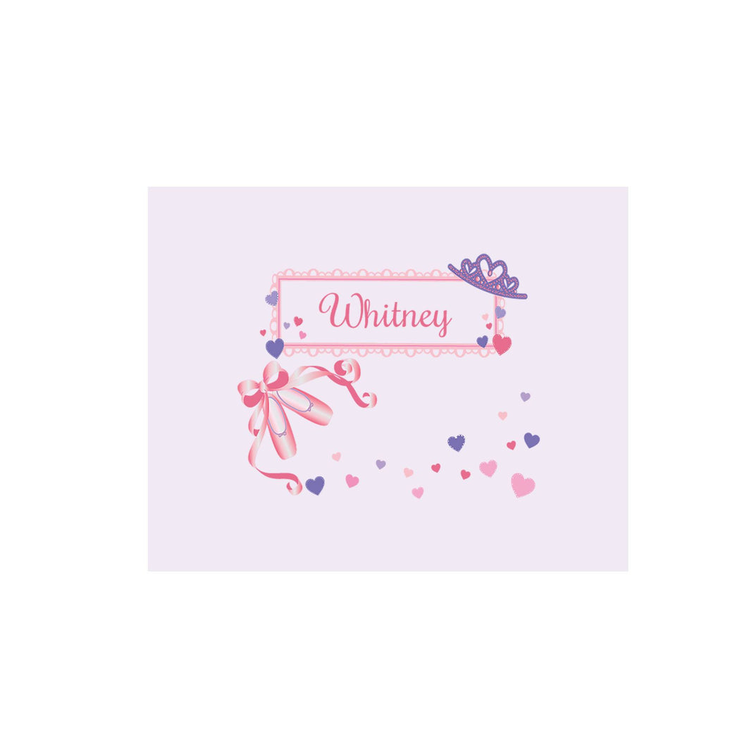 Personalized Wall Canvas with Ballet Princess design
