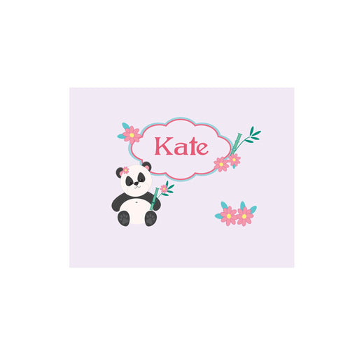 Personalized Wall Canvas with Panda Bear design