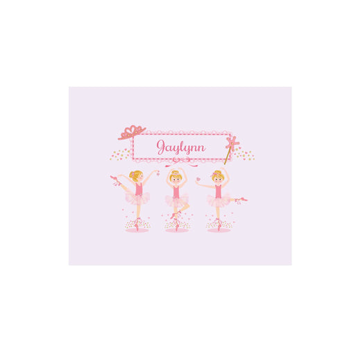 Personalized Wall Canvas with Ballerina Blonde design