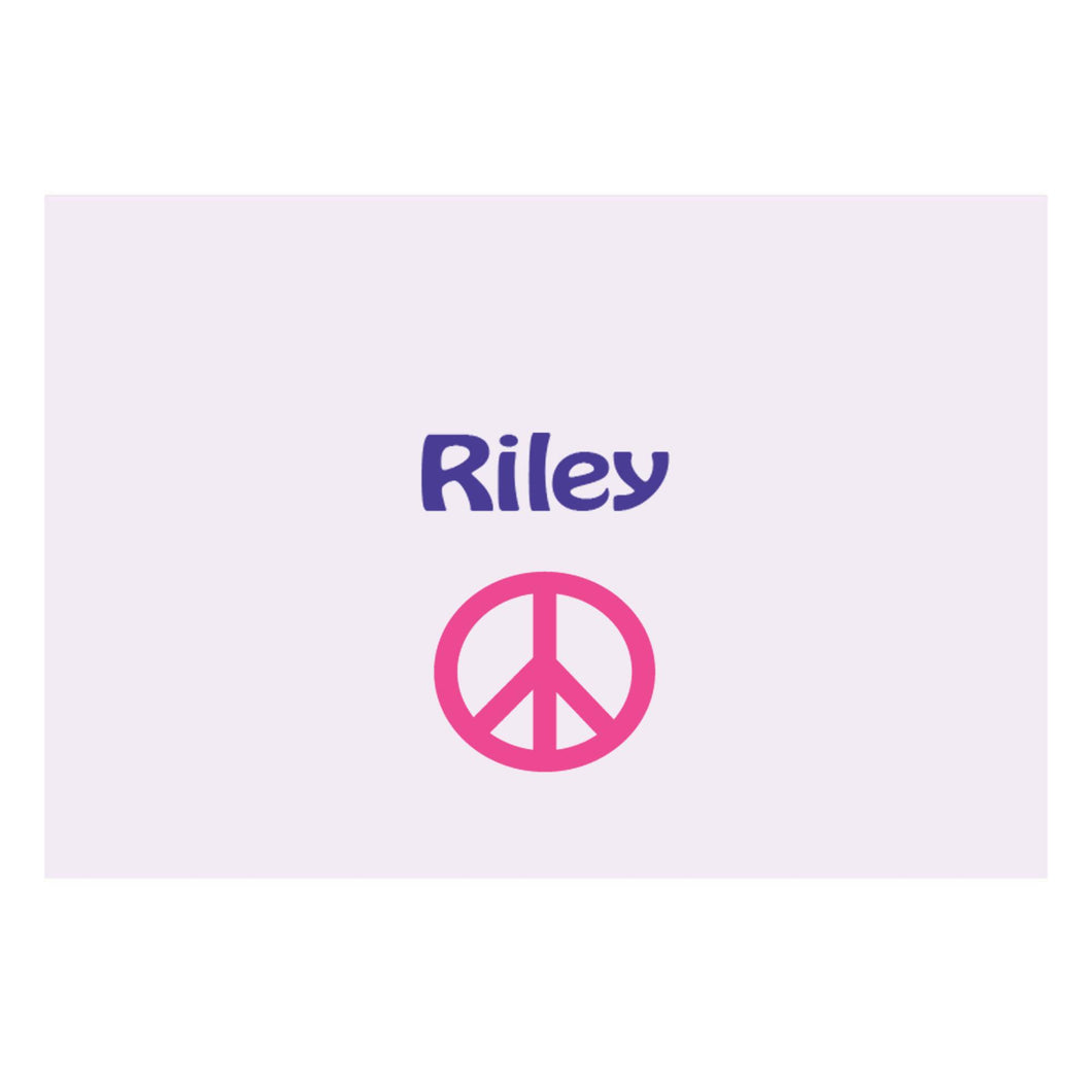 Personalized Wall Canvas with Single Peace design