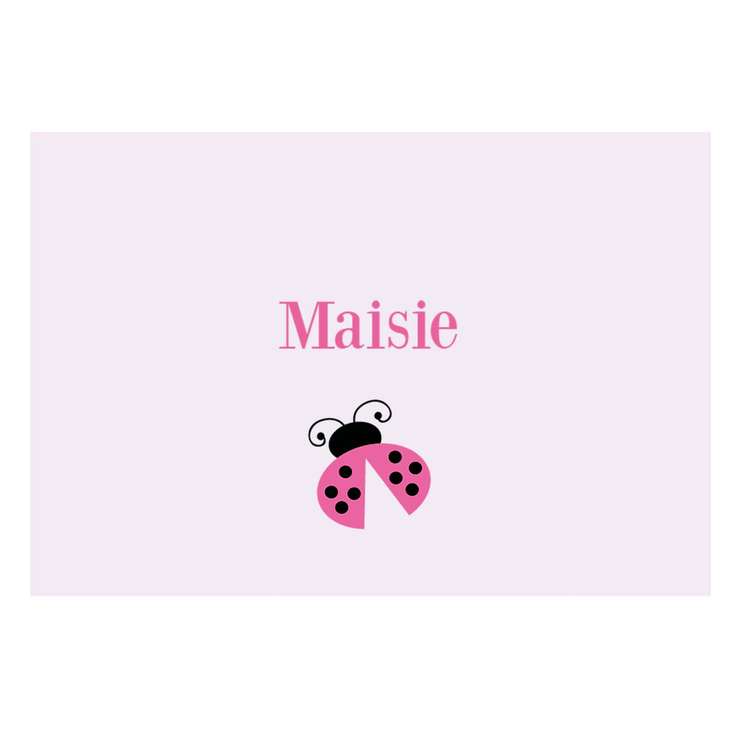 Personalized Wall Canvas with Single Ladybug design