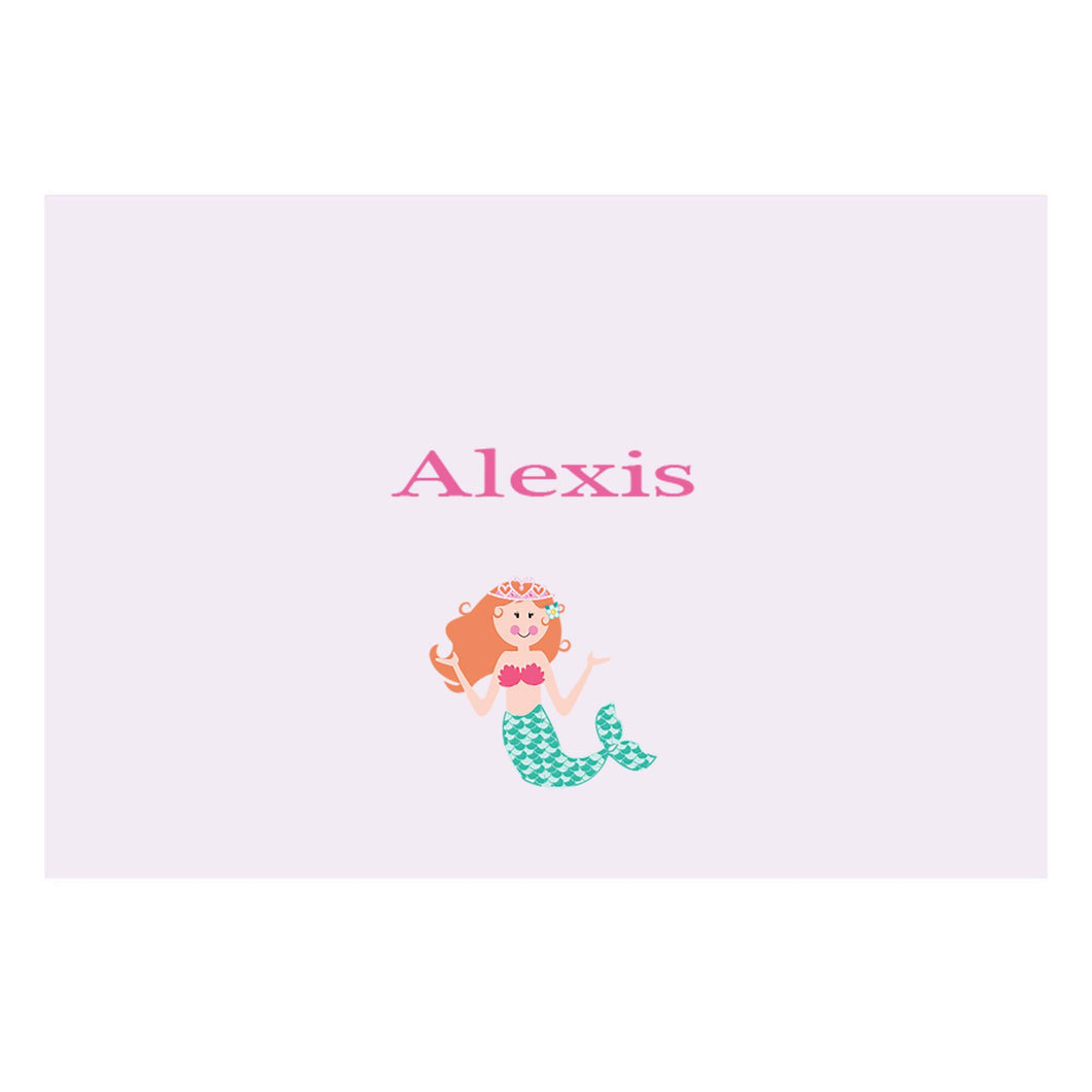 Personalized Wall Canvas with Single Mermaid design
