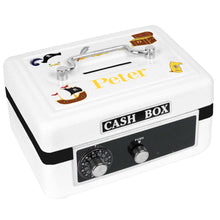 Personalized White Cash Box with Pirate design