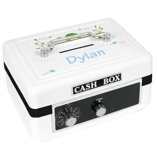 Personalized White Cash Box with Turtle design