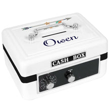 Personalized White Cash Box with Tribal Arrows Boy design
