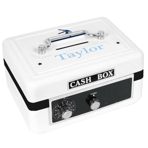 Personalized White Cash Box with Gymnastics design