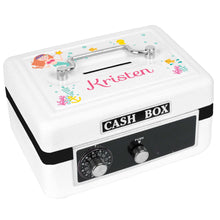 Personalized White Cash Box with Mermaid Princess design