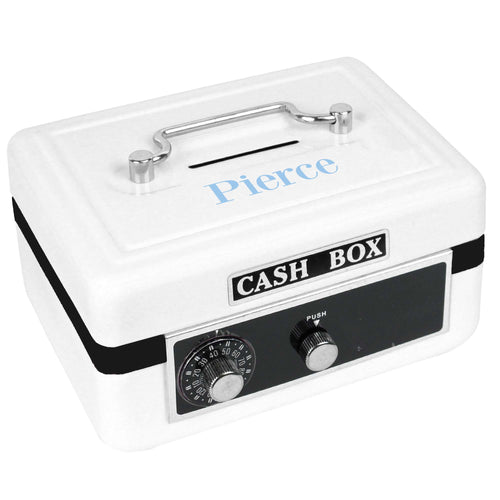 Personalized White Cash Box with Just Name design