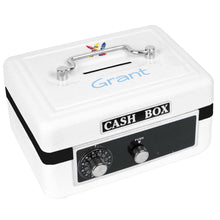 Personalized White Cash Box with Single Crayons design