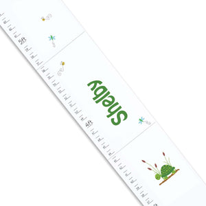 Personalized White Growth Chart With Turtle Design