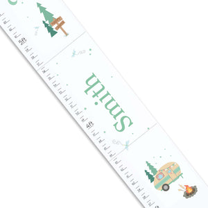 Personalized White Growth Chart With Camp S'More Design