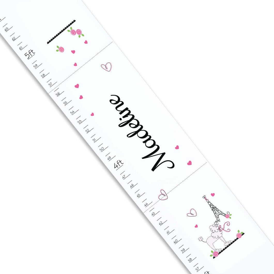 Personalized White Growth Chart With Oh La La Design
