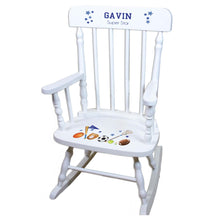 Sports White Spindle rocking chairs