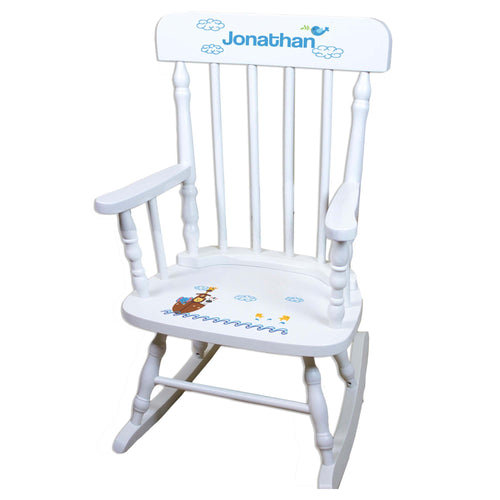 Noah's Ark White Personalized Wooden ,rocking chairs