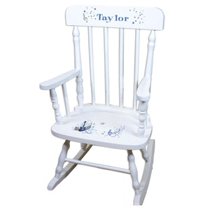 White Rock Star Boys Personalized Wooden ,rocking chairs