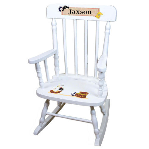 Pirate White Personalized Wooden ,rocking chairs