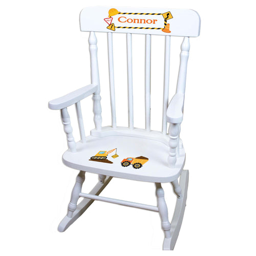 Construction White Personalized Wooden ,rocking chairs