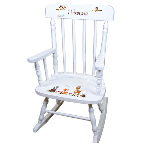 Woodland White Personalized Wooden ,rocking chairs