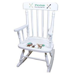 North Woodland White Spindle rocking chairs