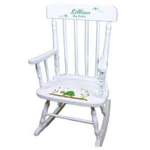 Turtle White Spindle rocking chairs