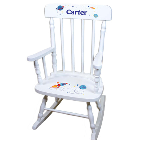 Rocket White Personalized Wooden ,rocking chairs