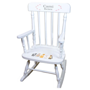 Pink Cats White Spindle rocking chairs
