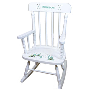 Teepee White Personalized Wooden ,rocking chairs