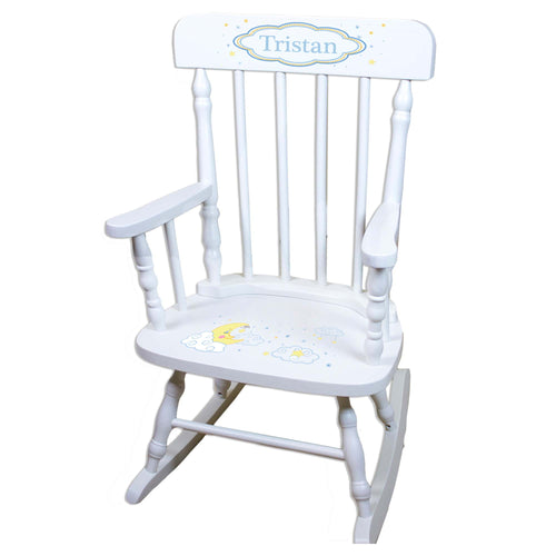 Moon And Stars White Personalized Wooden ,rocking chairs