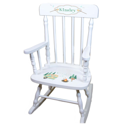 Camp S'mores White Personalized Wooden ,rocking chairs