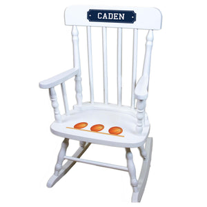 Basketball White Personalized Wooden ,rocking chairs