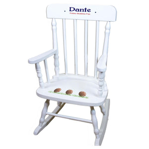 Football White Spindle rocking chairs