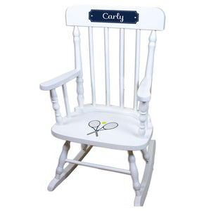 Tennis White Personalized Wooden ,rocking chairs