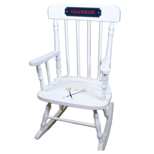 Lacrosse Sticks White Personalized Wooden ,rocking chairs