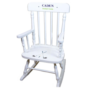 Golf White Spindle rocking chairs