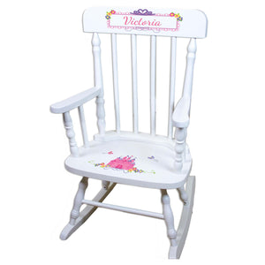 Princess Castle White Personalized Wooden ,rocking chairs