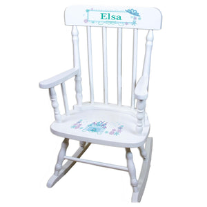 Winter Castle White Personalized Wooden ,rocking chairs