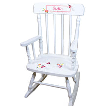 Pink Ladybug White Personalized Wooden ,rocking chairs