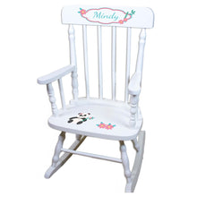 Panda Bear White Personalized Wooden ,rocking chairs