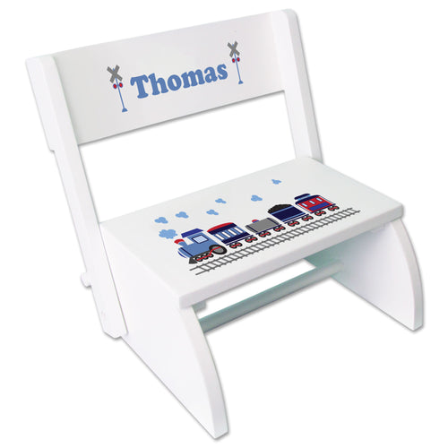 Personalized Train Childrens Stool