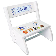 Personalized Sports Childrens Stool