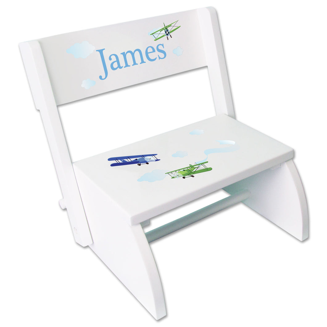 Personalized Airplane Childrens Stool