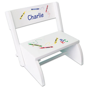 Personalized Crayon Childrens Stool