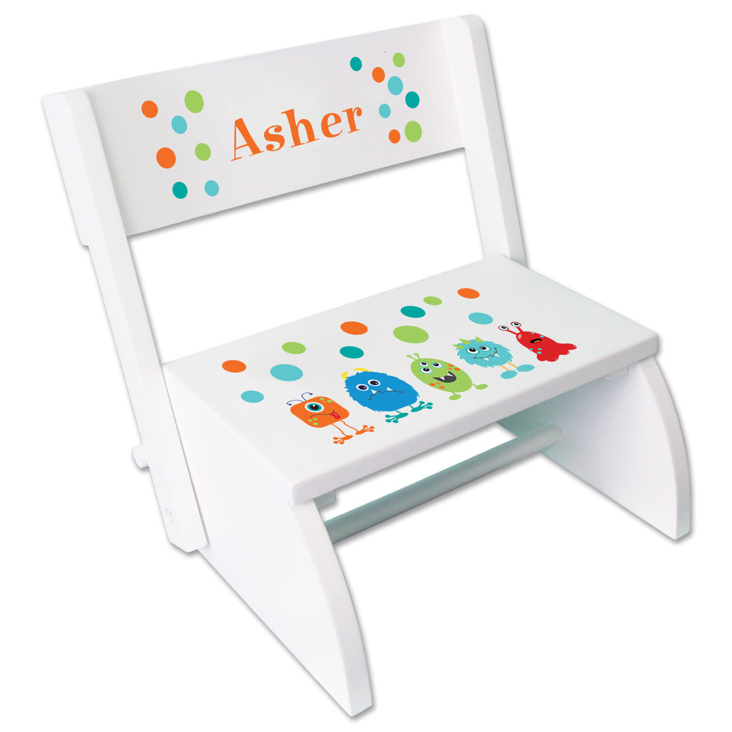 Personalized Monster Mash Childrens Stool