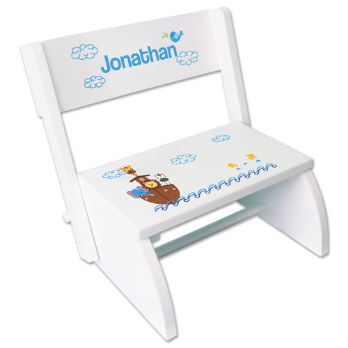 Personalized Noahs Ark Childrens Stool