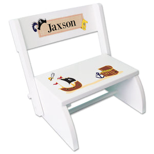 Personalized Pirate Childrens Stool