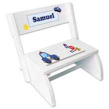 Personalized Police Childrens Stool